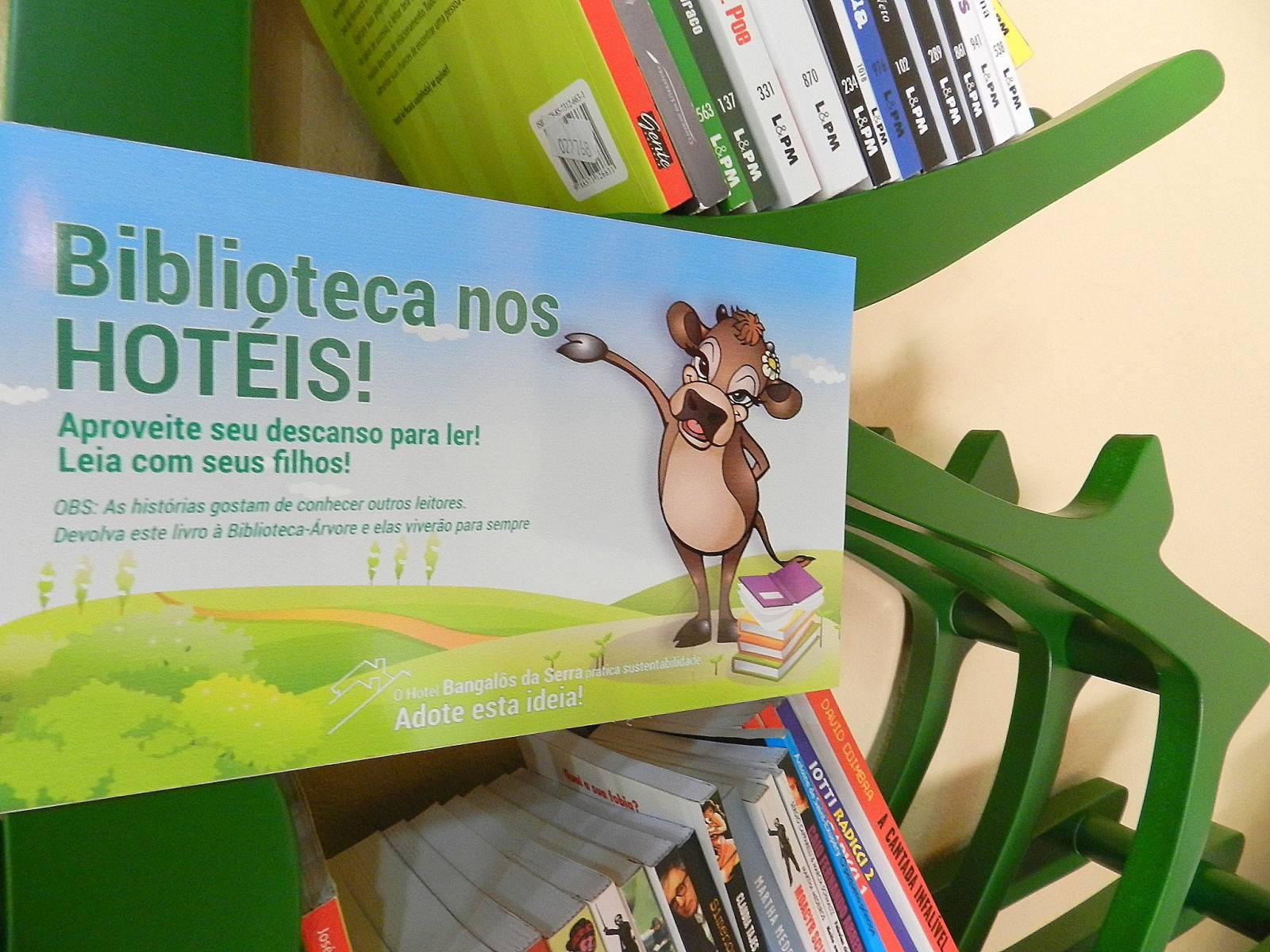 Biblioteca - Hotel Bangalôs da Serra #CurtaSuaFamilia #HotelSustentavel #TurismoVerde #TravelersChoice #EcoLider #Gramado