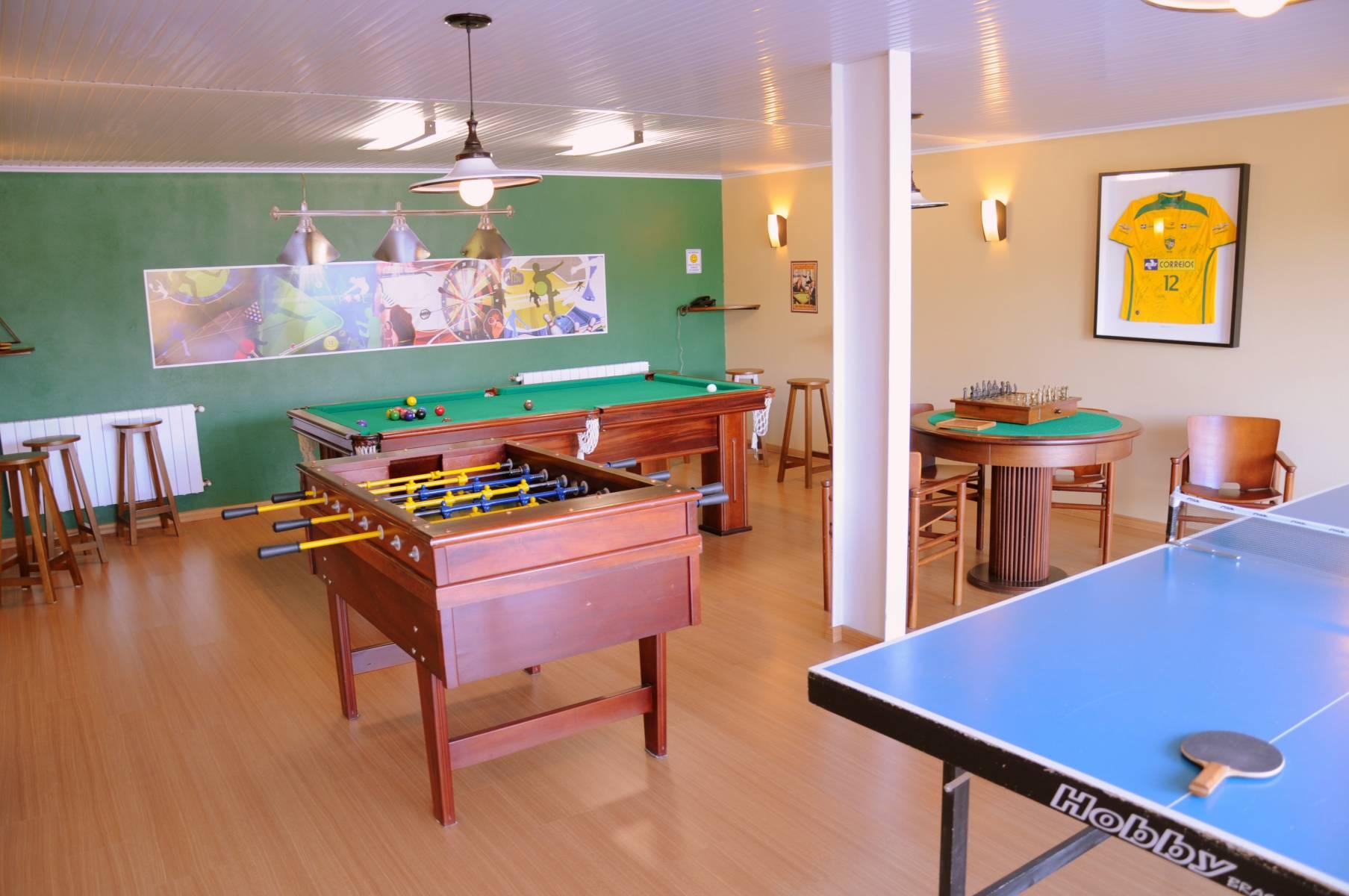 Sala de Jogos - Hotel Bangalôs da Serra #CurtaSuaFamilia #HotelSustentavel #TurismoVerde #TravelersChoice #EcoLider #Gramado