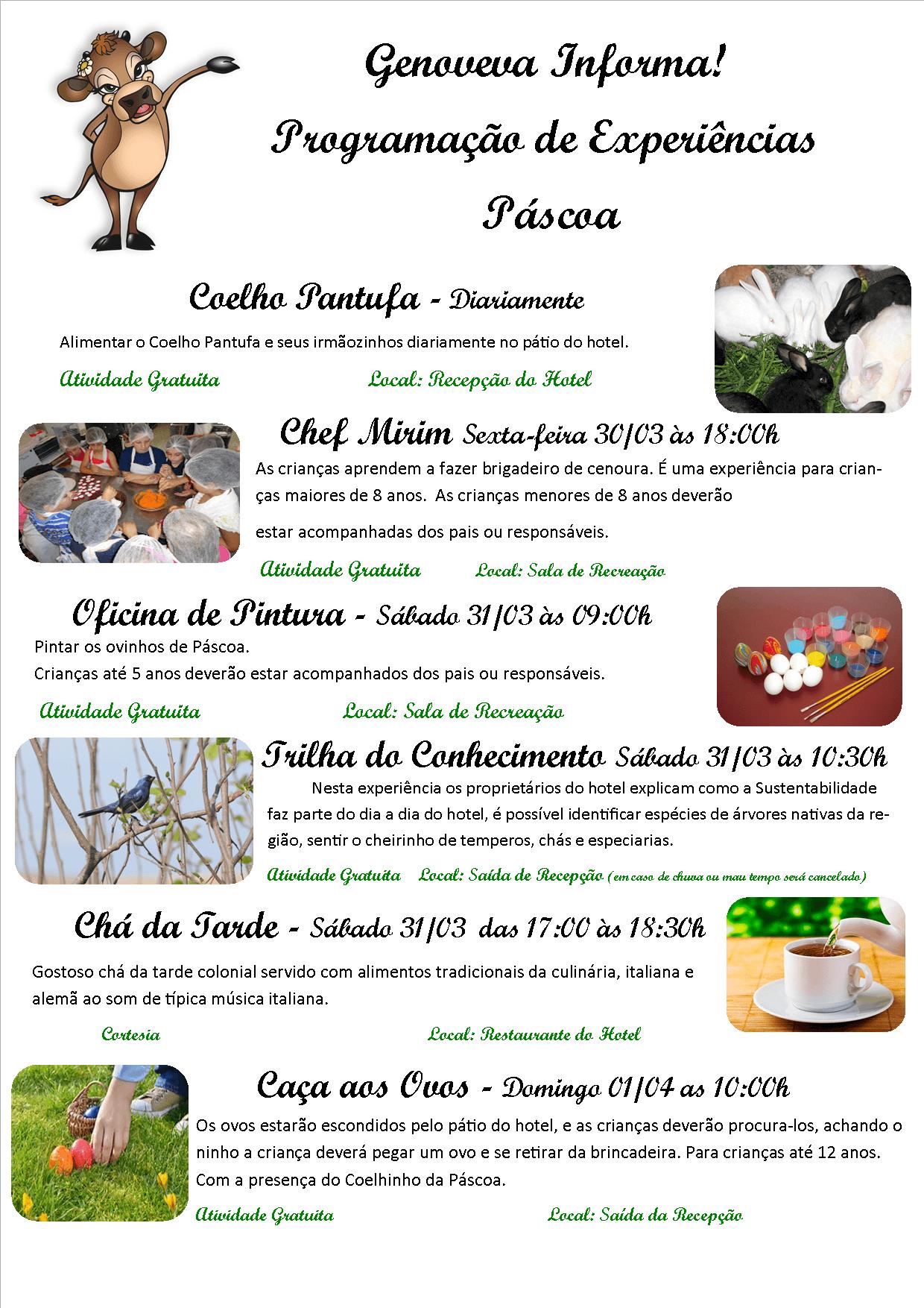 Programacao Pascoa 2018