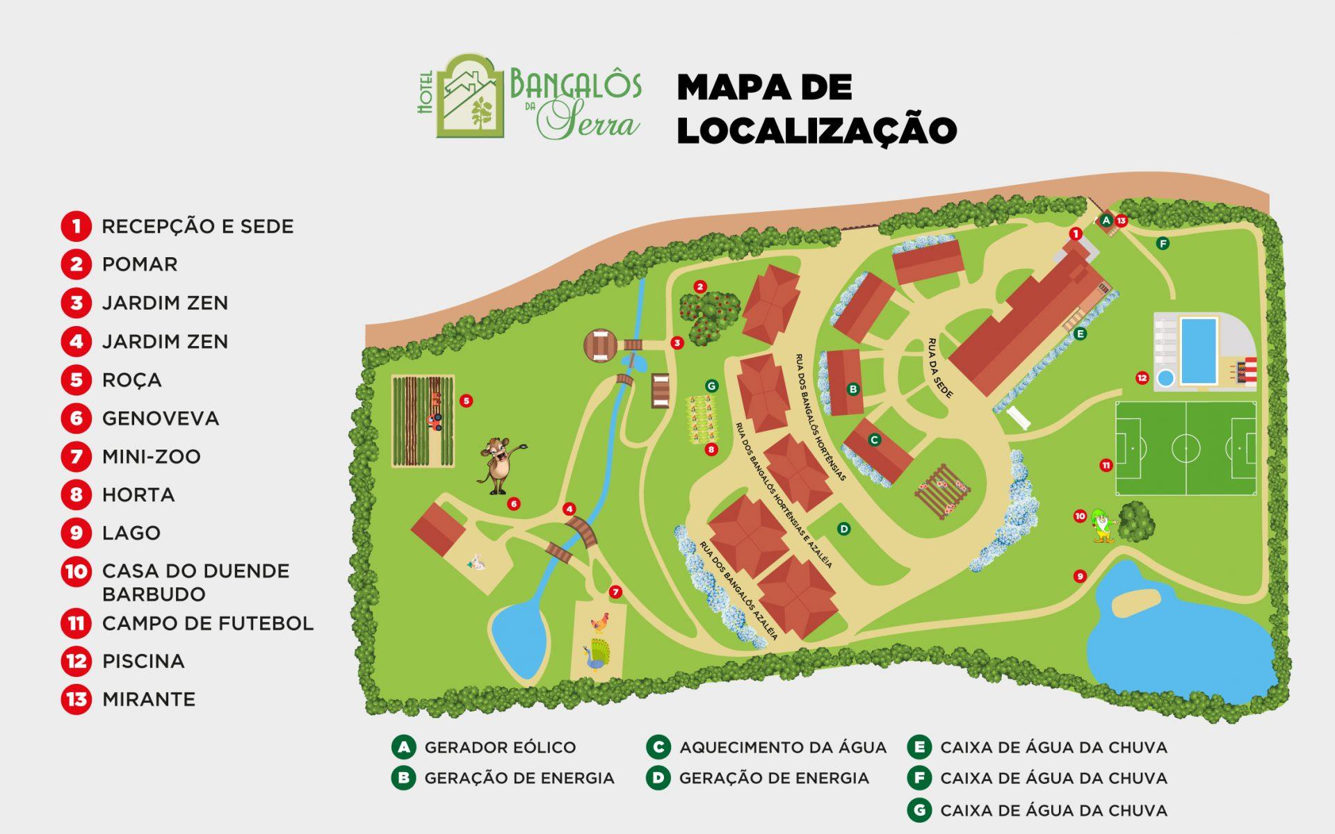 Mapa Bangalos Da Serra