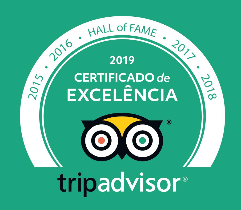o Hotel Bangalôs da Serra de Gramado entrou para o Hall da Fama do TripAdvisor por ter recebido o Certificado de Excelência nos últimos cinco anos.