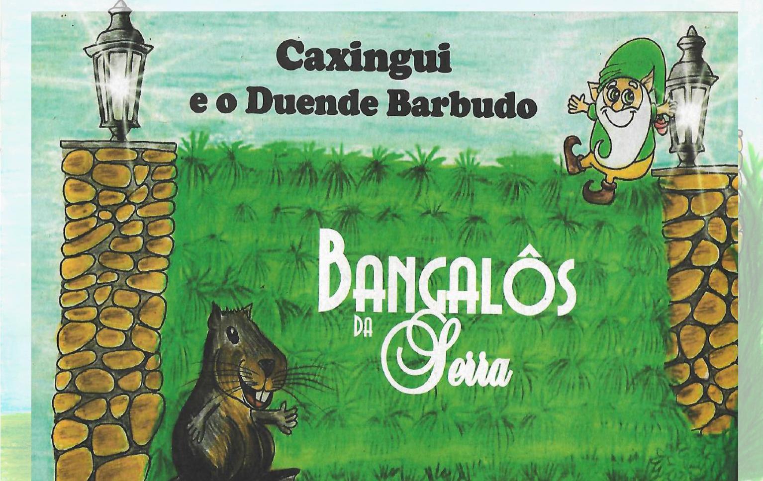 Caxingui e o Duende Barbudo no Hotel Bangalos da Serra de Gramado
