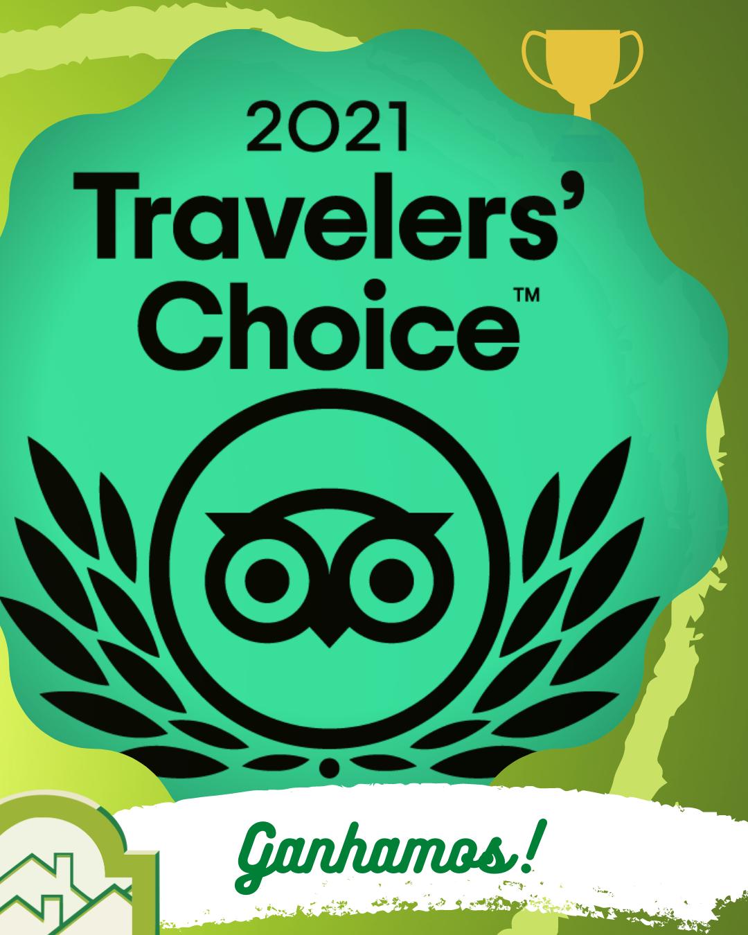 O Hotel Bangalôs da Serra de Gramado recebe novamente o Prêmio Travellers' Choice 2021 do TripAdvisor. Obrigado a todos nossos hóspedes, colaboradores e parceiros!